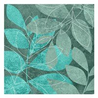 Seafoam Leaves 2 Fine-Art Print