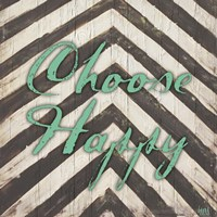 Chevron Sentiments Teal II Fine-Art Print