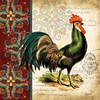 Suzani Rooster I Fine-Art Print