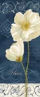 Paris Poppies Navy Blue Panel II Fine-Art Print
