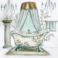 French Bath Sketch I (tub) Fine-Art Print