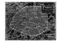 Environs Paris Black 2 Fine-Art Print