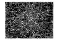 Environs London Black Fine-Art Print