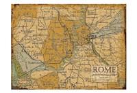 Environs Rome Sepia Fine-Art Print