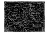 Environs Rome Black Fine-Art Print