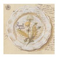Assiette, Pissenlit des prs Fine-Art Print