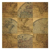 Nine Map Patch Fine-Art Print