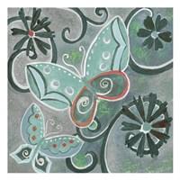 Butterfly Bustle Teal Fine-Art Print