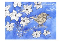 Poinsettia Bird Song Fine-Art Print