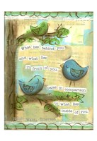 Birds Blue 2 Fine-Art Print