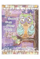Pastel Owl Family 4 Go Confidently Fine-Art Print