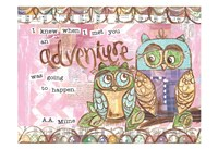 Pastel Owl Family 6 I Knew When I Met You An Adventure Fine-Art Print