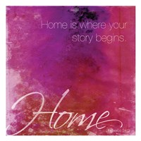 Watercolor Home Quoted Fine-Art Print