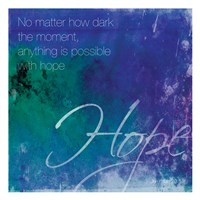 Watercolor Hope Quoted Fine-Art Print