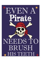 Pirate Must Brush Fine-Art Print