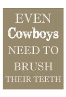 Cowboys Must Brush Fine-Art Print
