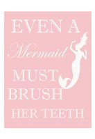 Mermaid Must Brush Fine-Art Print