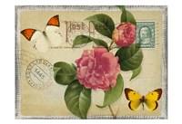 Vintage Butterfly Postcard I Fine-Art Print