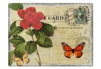 Vintage Butterfly Postcard II Fine-Art Print