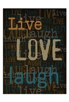 Live Love Laugh 1 Fine-Art Print