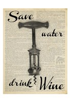 Save Water Fine-Art Print