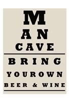 Man Cave Chart Fine-Art Print