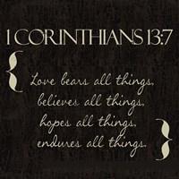 1 Corinthians 13-7-NKV Fine-Art Print