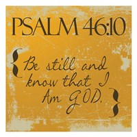 Psalms 46-10 Orange Fine-Art Print