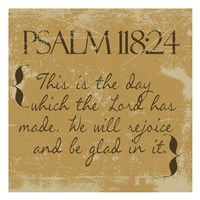Psalms 118-24 Gold Fine-Art Print