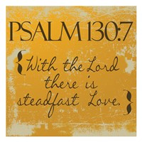 Psalms 130-7 Orange Fine-Art Print