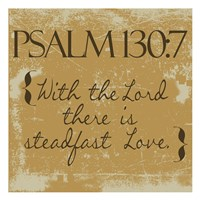 Psalms 130-7 Gold Fine-Art Print