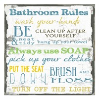 Bathroom Rules Multi 1 Fine-Art Print
