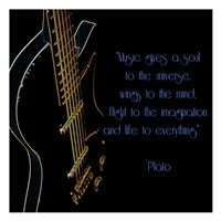 Neon Square Music Quote Fine-Art Print