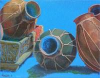 Blue Pots 1 Fine-Art Print