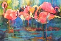 Flirty Flamingos Fine-Art Print