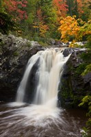 WI, Pattison SP, Little Manitou Falls, Black River Fine-Art Print