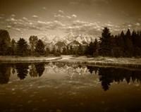 Teton Range and Snake River, Grand Teton National Park, Wyoming (sepia) Fine-Art Print