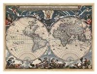 Nova et Accuratissima Totius Terrarum Orbis Tabula Fine-Art Print