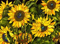 Sunflowers On a Field of Green Fine-Art Print