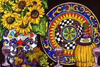 Vino and Sunflowers Fine-Art Print