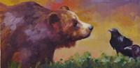 Bear and Birds Fine-Art Print