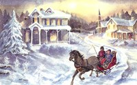 Horse and Sleigh Fine-Art Print