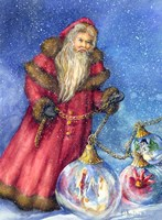 Old Santa with Gifts Fine-Art Print