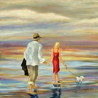 Walking Down the Shore Fine-Art Print
