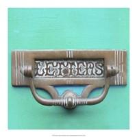 Rustic Turquoise Details III Fine-Art Print