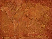 World Map Rust 1 Fine-Art Print
