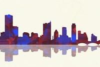 Austin Texas Skyline 1 Framed Print