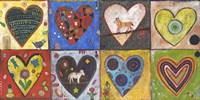 Eight Flat Hearts Fine-Art Print