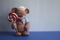 Bear Lollipop Sailor Fine-Art Print