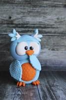 Owl Blue Ooops Fine-Art Print